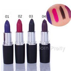 $2.78 4 Colors Unique Vampire Style Lip Gloss Waterproof Long Lasting Black Lip Stick - BornPrettyStore.com
