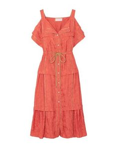 Peter Pilotto Midi Dress In Coral Peter Pilotto, Mother Of Pearl Buttons, Cold Shoulder, Coral, Summer Dresses, Fabric, Clothes, Shopping, Collection