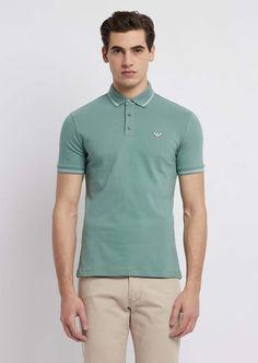 f51bea2ba6e9 Emporio Armani Stretch Cotton Pique Polo Shirt