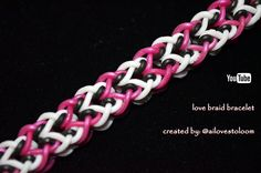 LOVE BRAID BRACELET hook only design created by Ai, @ailovestoloom on Instagram, http://i.instagram.com/ailovestoloom please tag and hashtag your renditions ...