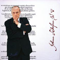 Manuel Fraga. Retrato al óleo de María Silvestre.