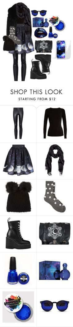 """moon child"" by mareli-van-as on Polyvore featuring STOULS, Falke, DKNY, Barneys New York, Antipast, Sacai, China Glaze, Britney Spears and Spitfire"