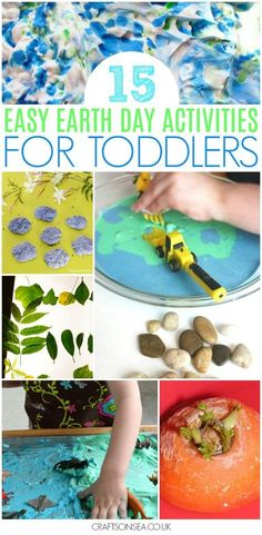 easy earth day activities for toddlers #earthday #kidsactivities #preschool #eyfs #toddler