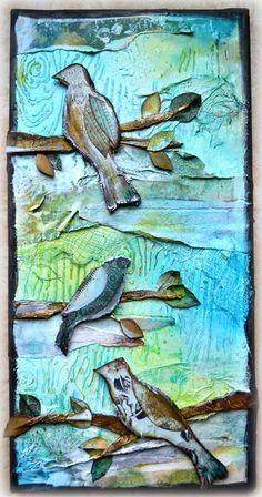 Other: Mixed Media Bird Canvas