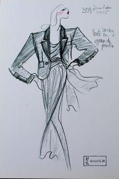 1989 - Yves Saint Laurent couture - tuxedo sketch
