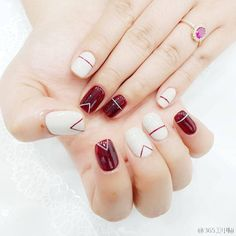 Fashionable Summer Nails Art Designs You'll Love - Nails C - Best Nail Art Burgundy Nails, Red Nails, Bright Nails, Love Nails, Pretty Nails, Asian Nails, Asian Nail Art, Diy Nail Designs, Pedicure Designs