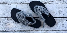 We've all seen the super cheap rubber flip flops around. I found these at Target for just $3.99! I wanted to jazz them up a bit, but I also wanted something easy.  I was able to make these pretty quick and they didn't use much yarn at all. It would be a great stash …