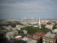 Aerial View Of Savannah Georgia