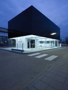 Gate House / NL Architects- it is nice with the right approach even an insignificant building can become a piece of art