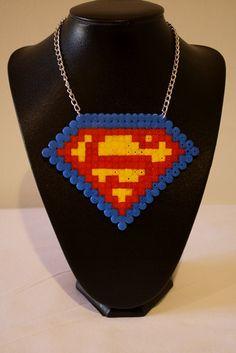 Hama Bead Superman.