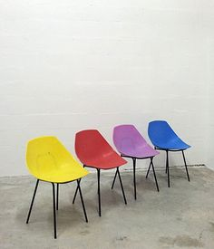 Pierre Guariche; Shell Chairs for Meurop, 1960s.
