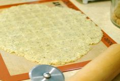 Almond flour saltines.  We made this recipe using the eggs instead of flax seed.  Thumbs up!