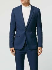 Blue Textured Ultra Skinny Fit Suit