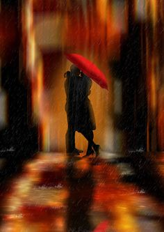 Keep always the romance in your life and your heart! And if you dare, be kiss under the rain for that is true romance.