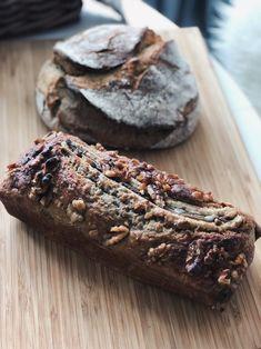 Sour dough bread and banana bread