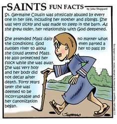 St. Germaine Cousin.  Feast day June 15.