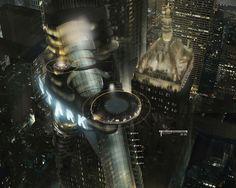 The Avengers concept art - Stark Tower Stark Tower, Die Rächer, New Avengers, Fighter Pilot, Superhero Movies, Screen Design, User Interface Design, Tony Stark, Cinema 4d