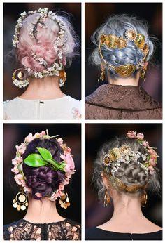 Dolce  Gabbana Spring/Summer 2014, Hair Details LOVE!!!