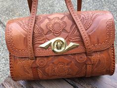 Vintage Hand-Tooled Western Style Fine Leather by ItsallforHim