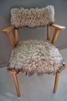 Crea Lou: Esprit Nordique : chaise relookée