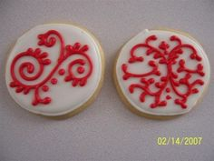 Scroll Cookies By reenie on CakeCentral.com