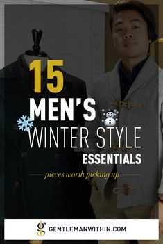 15 Men's Winter Style Essentials: Menswear Pieces Worth Picking Up Right Now Fashion Essentials, Style Essentials, Cold Weather Fashion, Winter Fashion, Stylish Men, Men Casual, Mens Clothing Brands, Mens Style Guide, Best Mens Fashion