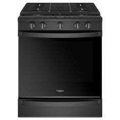 Whirlpool Smart 5 Burners ft Self-Cleaning Convection Slide-in Gas Range (Black) (Common: Actual: at Lowe's. Cut out routine steps and get the right settings every time with this slide-in gas range. Send Yummly® Guided Cooking instructions directly to the Cleaning Oven Racks, Self Cleaning Ovens, Food Temperatures, Convection Cooking, Large Oven, Single Oven, Gas Oven, No Cook Meals
