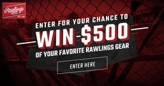 Enter to win a $500 Rawlings Shopping Spree!  Entry ends @11:59PM CST 12/23/19 Winner chosen at random on 12/24/19 Enter every day. Share for bonus entries.