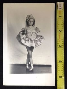 1920S-30S-VINTAGE-PHOTO-POST-CARD-LITTLE-GIRL-BALLERINA-EXCELLENT-COND-MRA7