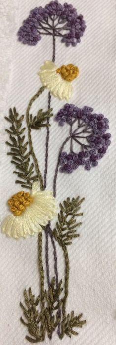 Papatya ,daisy Brezilya nakışı
