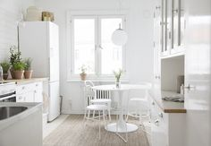 A dreamy white and grey Swedish space