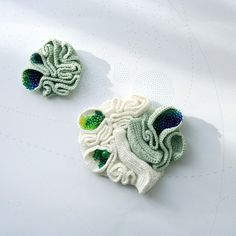Lana Bragina, sculptural crochet artist.
