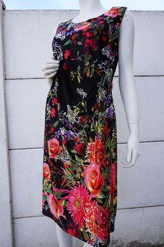Robe DRESS liberty fleurs Vintage 80 VTG eighties Bohême chic Taille 3 soit 42