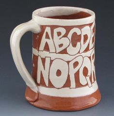 Coffee Mug with Alphabet