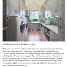2. The Laundry Room No One Wants to Leave - This homeowner didnt want her laundry room to be a place where she just threw the wash in the machine and left says project manager Brandon Linsday of Brandon Architects.  Thank you @houzz for hand-picking one of our designs to be featured in 'The Top 20 Rooms of the Day From 2015' we appreciate it.