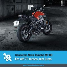 Sucesso de vendas na Europa, a nova Yamaha MT 09 é lançada no Brasil. Confira na matéria: https://www.consorciodemotos.com.br/noticias/nova-yamaha-mt-09-em-ate-70-meses-sem-juros?idcampanha=288&utm_source=Pinterest&utm_medium=Perfil&utm_campaign=redessociais