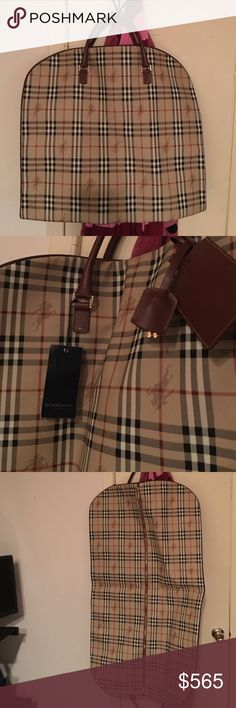 """NWT""Burberry Dress Bag New with lock n key Burberry Bags Travel Bags"