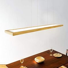 Led Pendant Lights, Led Ceiling Lights, Hanging Lights, Pendant Lamp, Home Office Lamps, Wooden Ceilings, Lampe Led, Hand Blown Glass, Wood And Metal