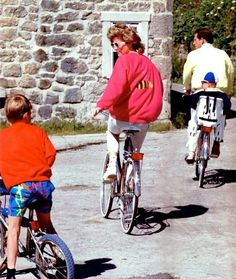 Prince Charles and Princess Diana with the boys.