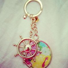 lilly pulitzer key chain - backpack accessories :)