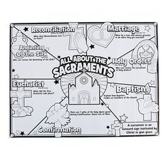 """Color Your Own """"All About The Sacraments"""" Posters - OrientalTrading.com"""