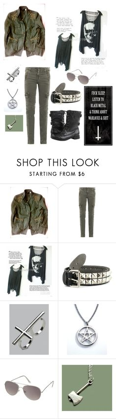 """""""Metal head"""" by pmkamp ❤ liked on Polyvore featuring J Brand, Vegetarian Shoes and Topshop"""