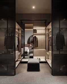 Bedroom Closet Design, Home Room Design, Closet Designs, Home Interior Design, Modern Luxury Bedroom, Luxurious Bedrooms, Dressing Room Design, Modern Spaces, House Rooms