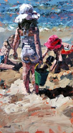 Claire McCall, Impressionist Painting. Palette knife painting.