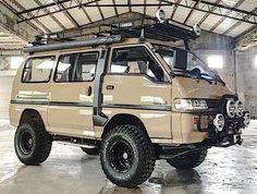 1993 Mitsubishi Delica - Everything About Off-Road Vehicles Vw T3 Camper, 4x4 Camper Van, 4x4 Van, Truck Camper, Auto Camping, Van Camping, Mitsubishi Delica, Vw Syncro, Suzuki Carry