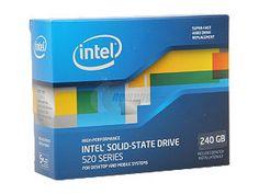 """Intel 520 Series Cherryville SSDSC2CW240A3K5 2.5"""" 240GB SATA III MLC Internal Solid State Drive (SSD)"""