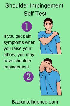 Shoulder Impingement Exercises You Can Do At Home (Long Term Fix) 5 DIY Shoulder impingement syndrome exercises to help you ease your shoulder pain. Shoulder impingement is one of the most common shoulder injuries. Frozen Shoulder Pain, Sore Shoulder, Shoulder Pain Relief, Neck And Shoulder Pain, Shoulder Workout, Neck And Shoulder Stretches, Neck Pain, Shoulder Injury Exercises, Stretching