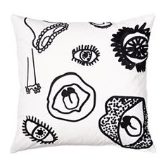 IKEA - SPRIDD, Cushion cover, Embroidery adds texture and luster to the cushion.The zipper makes the cover easy to remove.