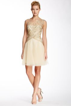 Marchesa Notte Embellished Lace Cocktail Dress by Marchesa on @HauteLook