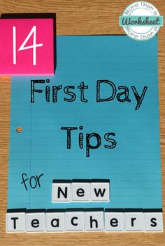 First Day of School Tips for New Teachers